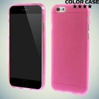 Силиконовый чехол для iPhone 6S / 6 - Матовый Розовый