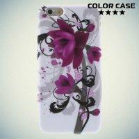 Силиконовый чехол для iPhone 6S / 6 - с рисунком Лотос
