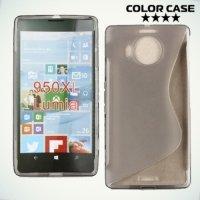 Силиконовый чехол для Microsoft Lumia 950 - S-образный Серый