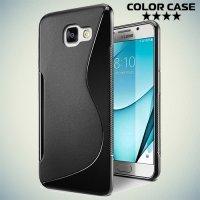 Силиконовый чехол для Samsung Galaxy A5 2017 SM-A520F - S-образный Черный