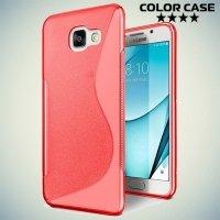 Силиконовый чехол для Samsung Galaxy A3 2017 SM-A320F - S-образный Красный