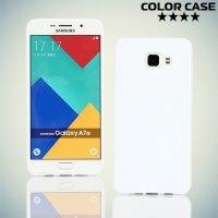 Силиконовый чехол для Samsung Galaxy A7 2016 SM-A710F - S-образный Белый