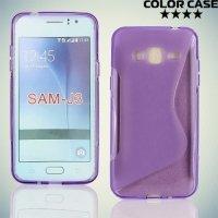 Силиконовый чехол для Samsung Galaxy J3 2016 SM-J320F - S-образный Фиолетовый