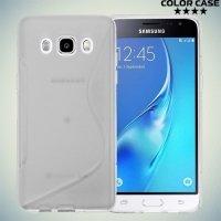 Силиконовый чехол для Samsung Galaxy J5 2016 SM-J510 - S-образный Прозрачный