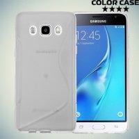 Силиконовый чехол для Samsung Galaxy J7 2016 SM-J710F - S-образный Прозрачный