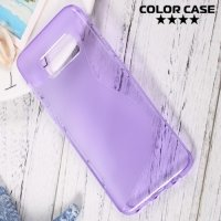 Силиконовый чехол для Samsung Galaxy S8 - S-образный Фиолетовый
