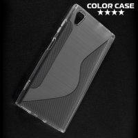 Силиконовый чехол для Sony Xperia XA1 Plus - S-образный Прозрачный