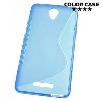 Силиконовый чехол для Xiaomi Redmi Note 2 - S-образный Синий