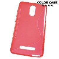 Силиконовый чехол для Xiaomi Redmi Note 3 - S-образный Красный