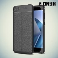 Силиконовый чехол под кожу для Asus Zenfone 4 Max ZC520KL - Черный