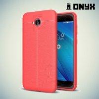 Силиконовый чехол под кожу для Asus Zenfone 4 Selfie ZD553KL / Live ZB553KL - Коралловый