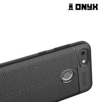 Силиконовый чехол под кожу для Huawei Nova lite 2017 - Черный