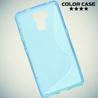 Силиконовый чехол для Huawei Honor 7 - Синий S-образный