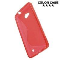Силиконовый чехол для Microsoft Lumia 640 (3G, LTE, Dual Sim) - S-образный Красный