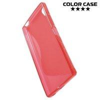 Силиконовый чехол для Sony Xperia Z5 Premium и Z5 Premium Dual - Красный