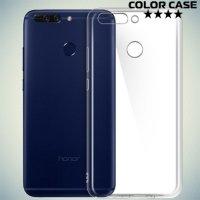 Тонкий силиконовый чехол для Huawei Honor 8 Pro - Прозрачный