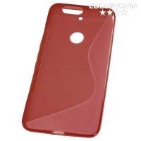 Силиконовый чехол для Huawei Nexus 6P - S-образный Красный