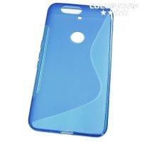Силиконовый чехол для Huawei Nexus 6P - S-образный Синий