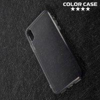 Тонкий силиконовый чехол для iPhone X - Серый