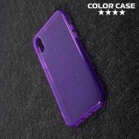 Тонкий силиконовый чехол для iPhone X - Фиолетовый