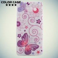 Тонкий силиконовый чехол для Samsung Galaxy A3 2016 SM-A310F - с рисунком Цветы