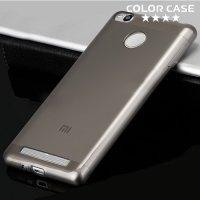 Силиконовый чехол для Xiaomi Redmi 3 Pro / 3s - Серый