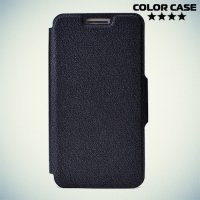 Чехол книжка для телефона 5.0-5.3 дюйма универсальный - черный