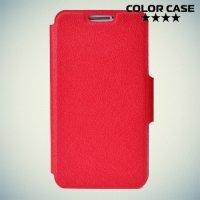 Чехол книжка для телефона 5.0-5.3 дюйма универсальный - красный