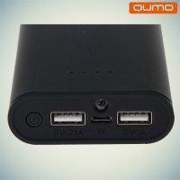 Внешний аккумулятор Qumo PowerAid 10400 mAh 2 USB черный