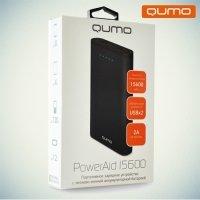 Внешний аккумулятор Qumo PowerAid 15600 mAh 2 USB черный