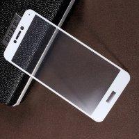 Закаленное защитное стекло для Huawei Honor 8 lite / P8 lite (2017) на весь экран - Белый