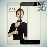 DF Закаленное защитное стекло на весь экран для Xiaomi Redmi 4A - Черный