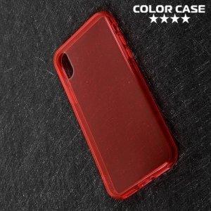 Тонкий силиконовый чехол для iPhone X - Красный