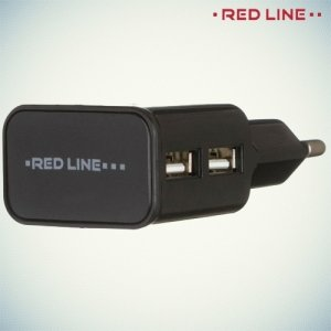 Универсальная зарядка для телефона 2.1А USB Red Line черный