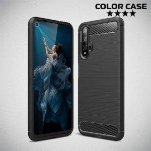 Carbon Силиконовый матовый чехол для Huawei Nova 5T - Черный