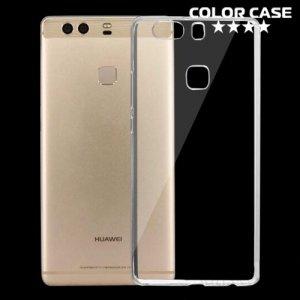 Тонкий силиконовый чехол для Huawei P9 Plus - Прозрачный