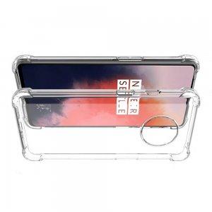 IMAK Shockproof силиконовый защитный чехол для OnePlus 7T прозрачный цвет и защитная пленка