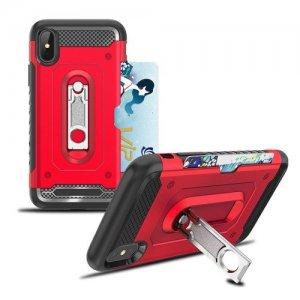Защитный чехол для iPhone XS Max с подставкой и отделением для карты - Черный
