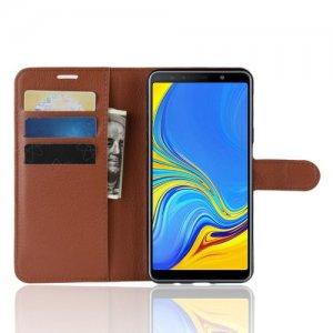 Чехол книжка для Samsung Galaxy A7 2018 SM-A750F - Коричневый