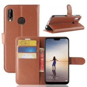 Чехол книжка для Huawei P20 Lite - Коричневый