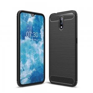 Carbon Силиконовый матовый чехол для Nokia 2.3 - Черный