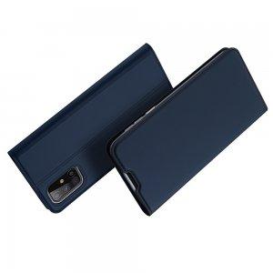 Dux Ducis чехол книжка для Samsung Galaxy M31s с магнитом и отделением для карты - Синий
