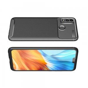 Carbon Силиконовый матовый чехол для Huawei Honor 9X Lite - Черный