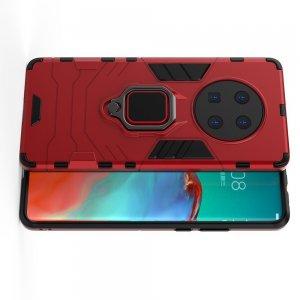 Hybrid Armor Ударопрочный чехол для Huawei Mate 40 Pro с подставкой - Красный