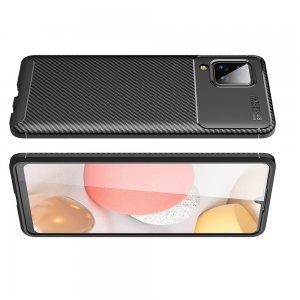 Carbon Силиконовый матовый чехол для Samsung Galaxy A12 - Черный