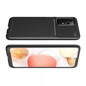 Carbon Силиконовый матовый чехол для Samsung Galaxy A72 - Черный