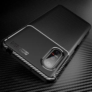 Carbon Силиконовый матовый чехол для Sony Xperia 5 II - Черный цвет