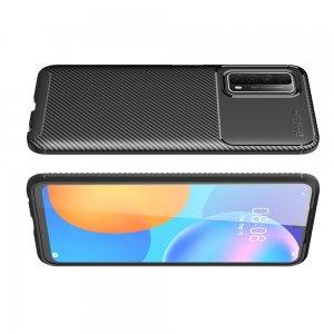Carbon Силиконовый матовый чехол для Huawei P Smart 2021 - Черный