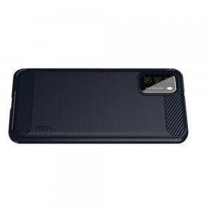 Carbon Силиконовый матовый чехол для Xiaomi Poco M3 - Синий