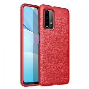 Leather Litchi силиконовый чехол накладка для Xiaomi Poco M3 - Красный